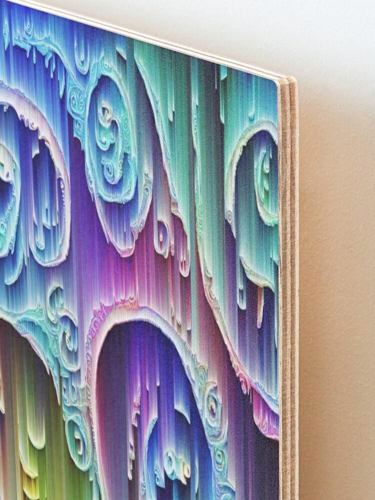 Alternate view of DeepDream Tomato Steelblue 5x5K v9 Mounted Print