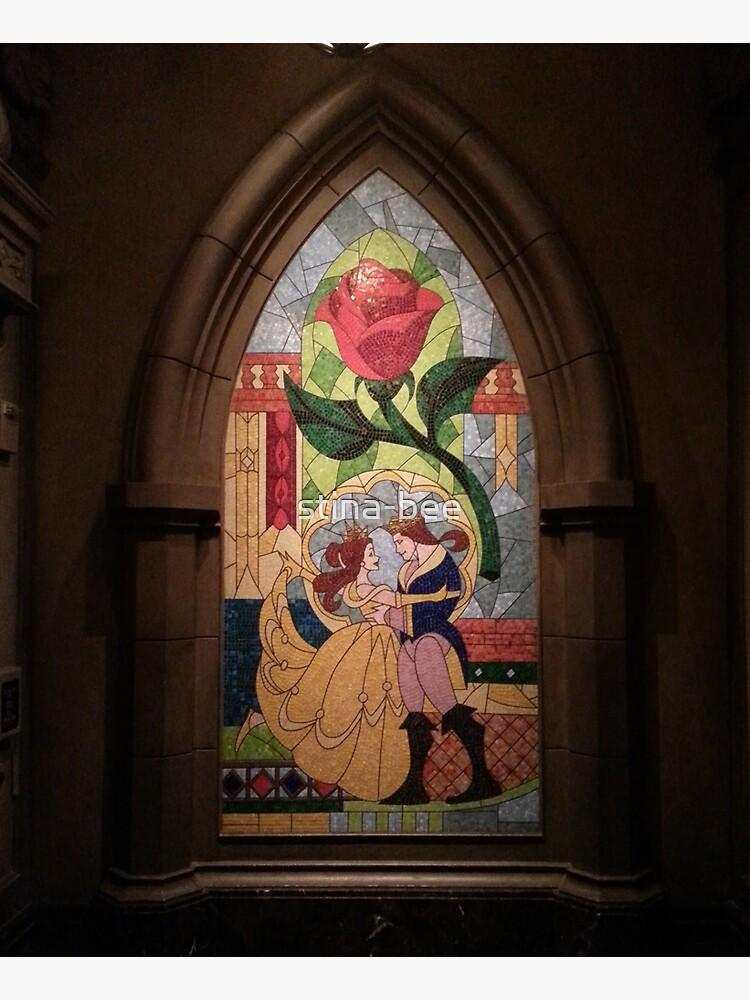 Beauty and the Beast window mosaic by stina-bee