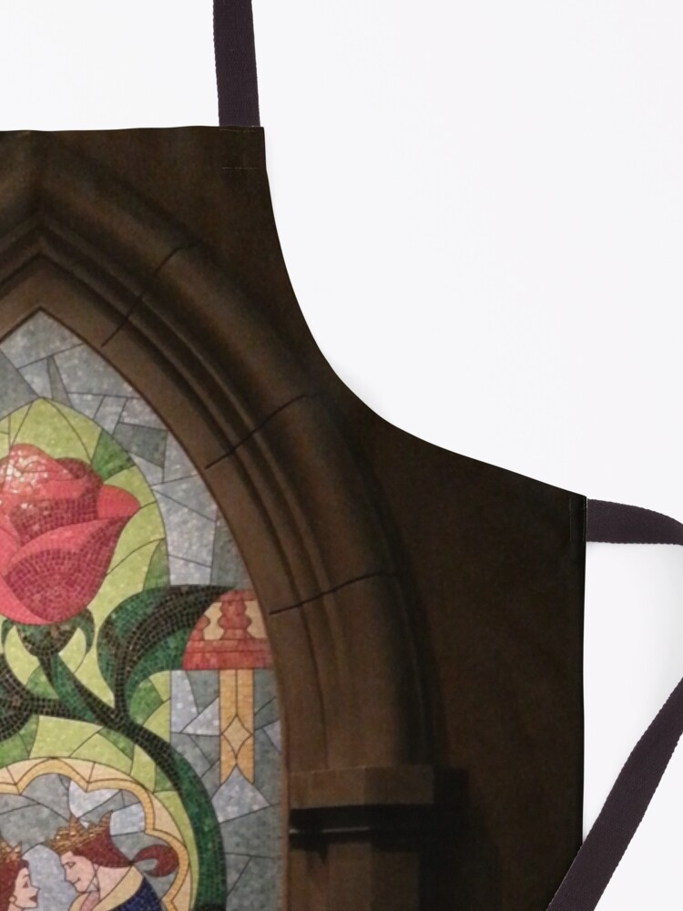 Alternate view of Beauty and the Beast window mosaic Apron