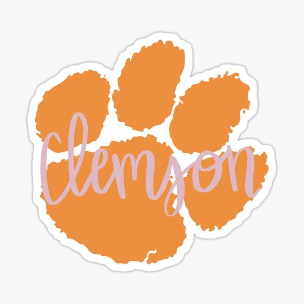Clemson paw Sticker