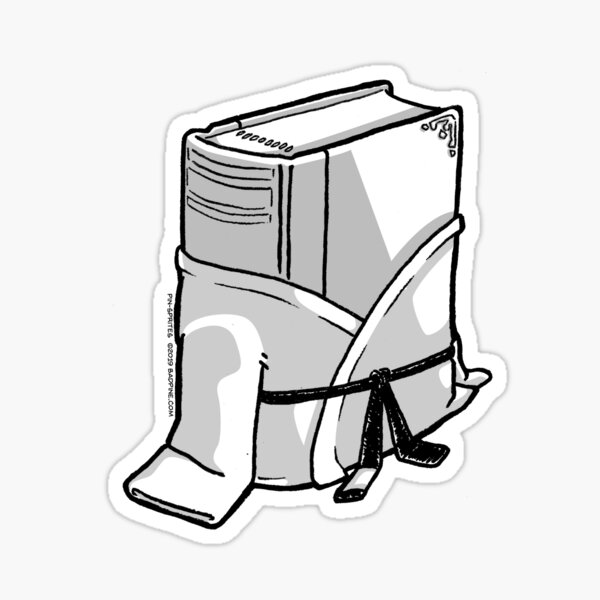 Pin-Sprites - Book in a Gi - Black and White/ No-Face Sticker