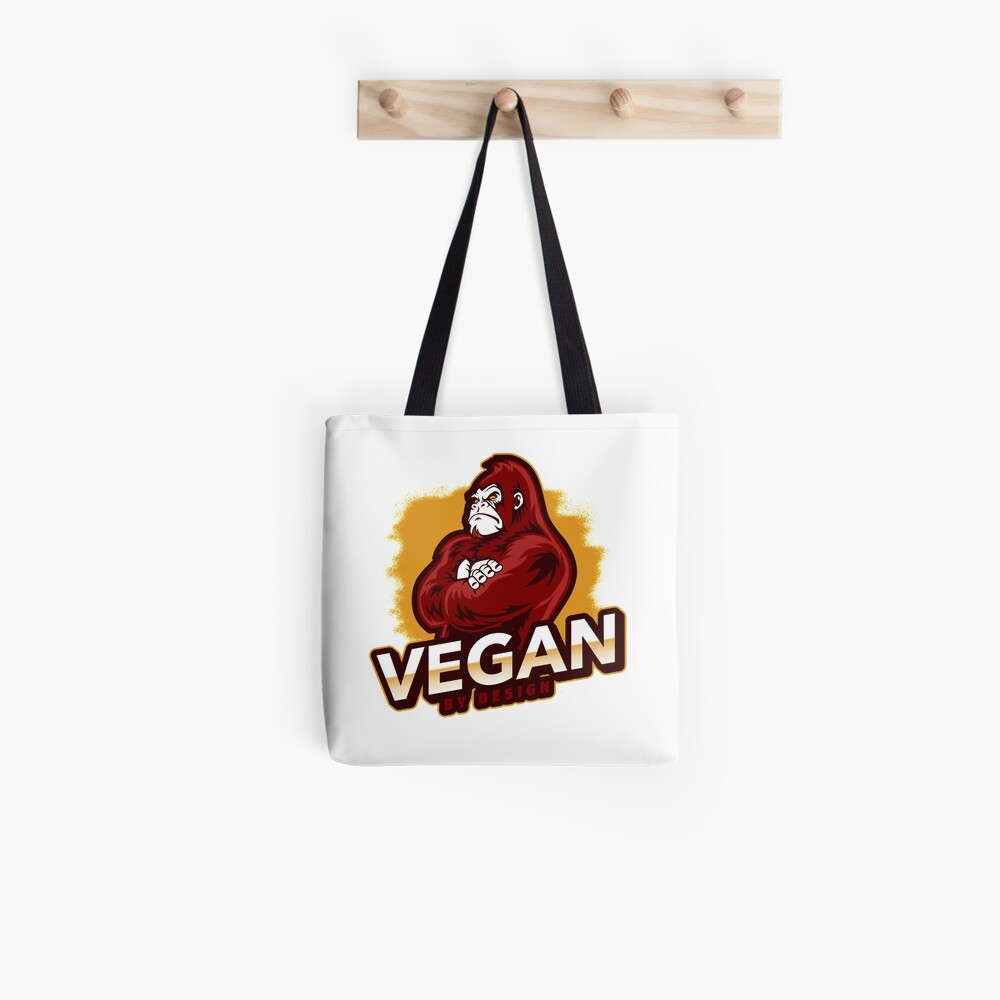 Vegan By Design Strong Gorilla Plant Based Protein Tote Bag