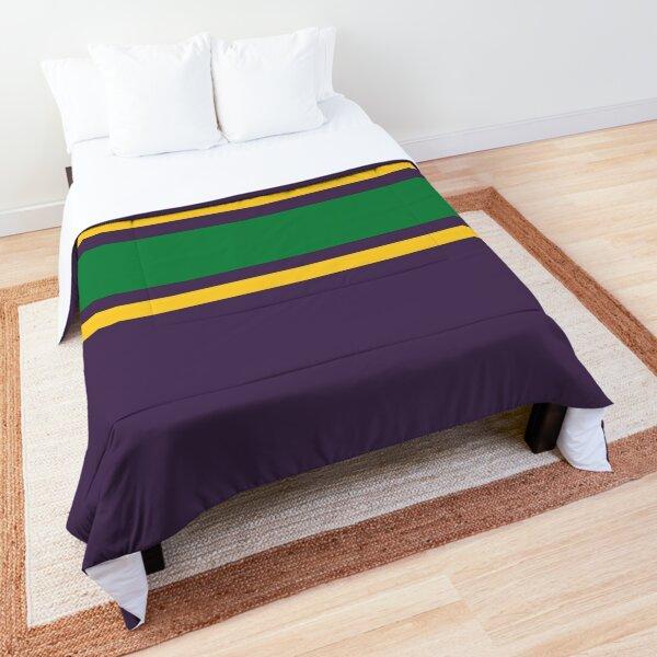 Purple, Gold, & Green Power Stripe Comforter