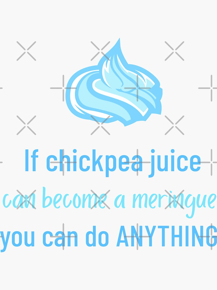 If Chickpea Juice Can Become a Meringue You Can Do Anything by nikkihstokes