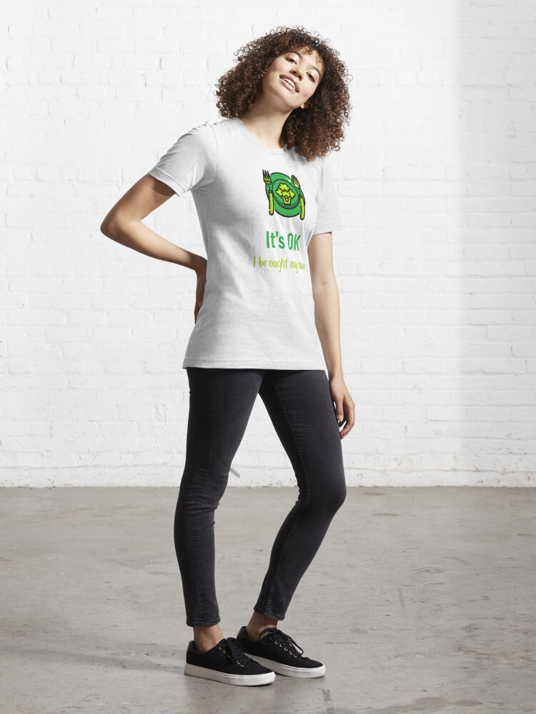 Alternate view of It's OK I Brought My Own Vegan Food Lovers Essential T-Shirt