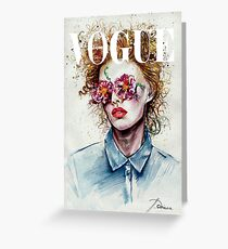 vogue cover Greeting Card