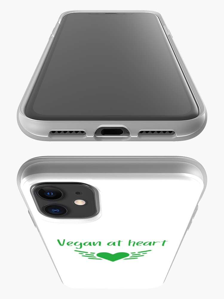Alternate view of Vegan at Heart iPhone Case & Cover