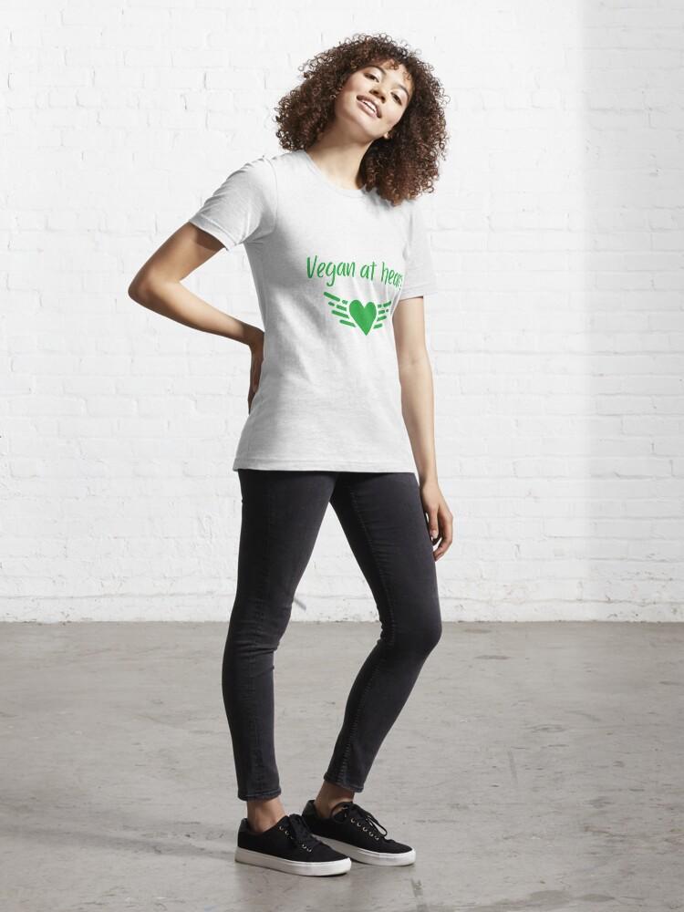Alternate view of Vegan at Heart Essential T-Shirt