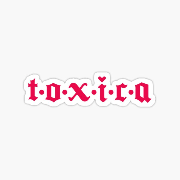 Latina Toxica en Hot Pink Pegatina