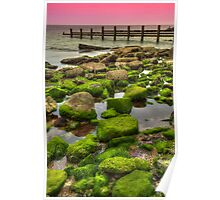 Pink and Green Seaside Poster