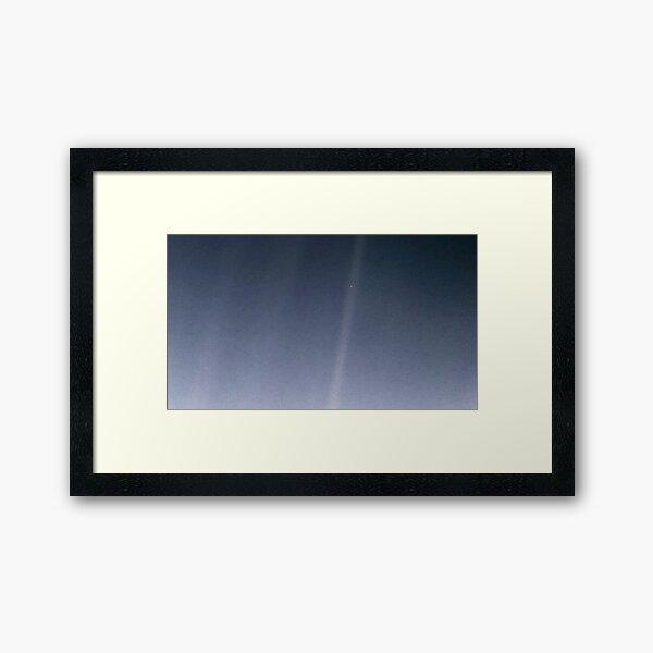 Pale Blue Dot (Blue) Framed Art Print