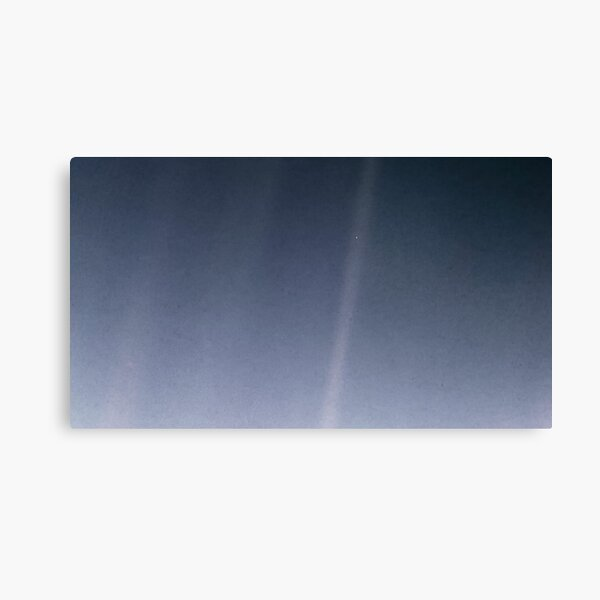 Pale Blue Dot (Blue) Canvas Print