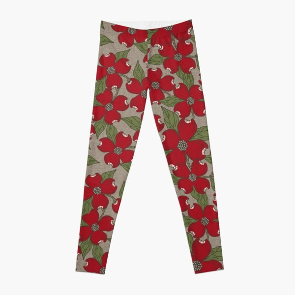 North Carolina Dogwood | Crimson Leggings