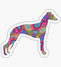 Paisley Whippet Sticker