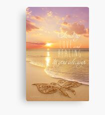 Sending Love and Healing Canvas Print