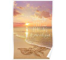 Sending Love and Healing Poster
