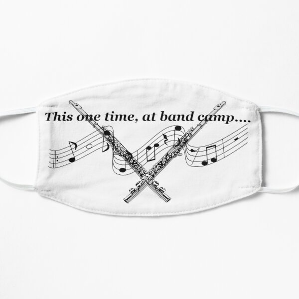 This one time at band camp flutes and musical notes Mask