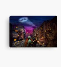 Steampunk - The Great Mustachio Canvas Print