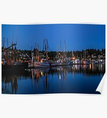 Fishermen's Harbor, Newport, Oregon Poster