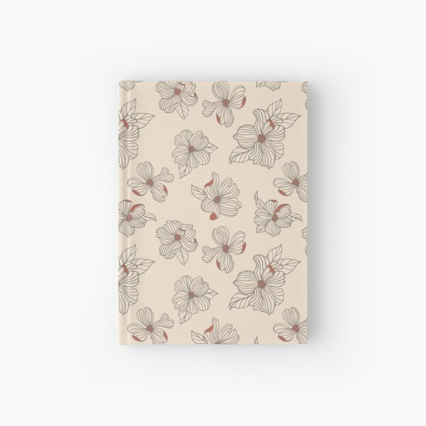 Dogwood Blossoms | White & Persimmon Hardcover Journal