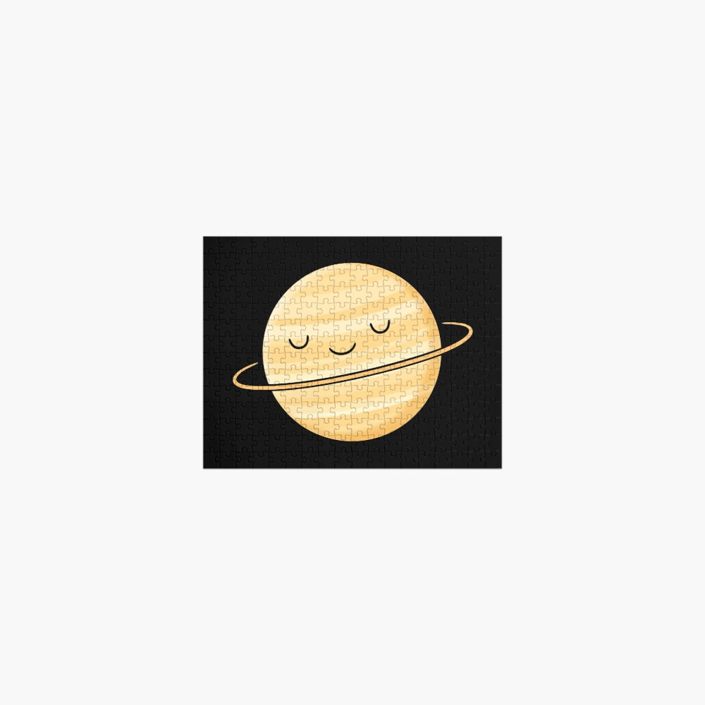 Happy Planet Saturn Jigsaw Puzzle