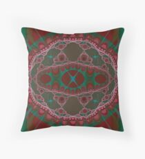 Fractal Stew Throw Pillow
