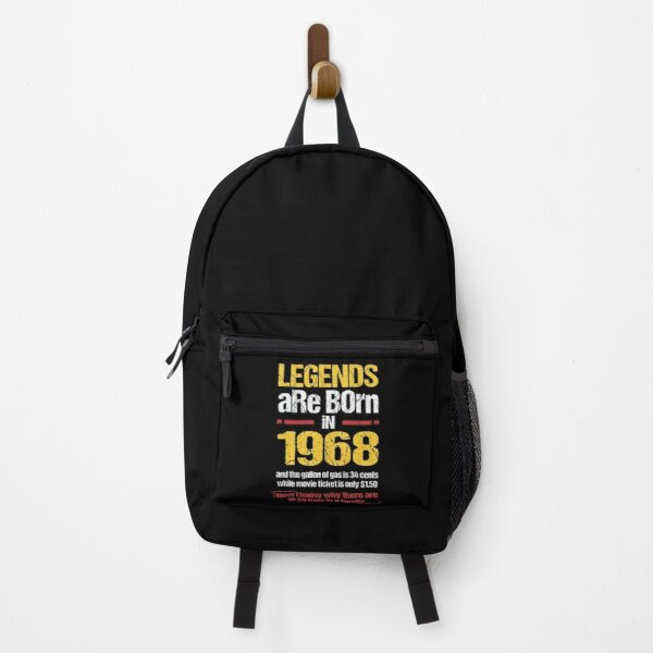 Legends Are Born In 1968 Birthday Gifts Retro Classic Facts Funny Retro 60s 70s 80s 90s Gift Ideas Backpack