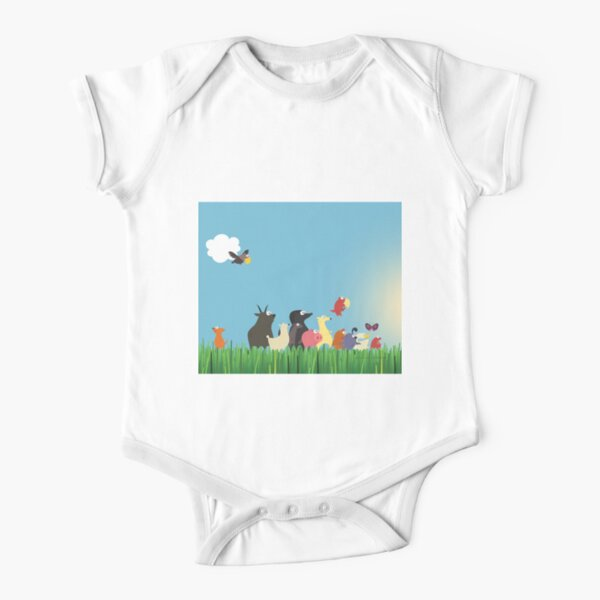 What's happening on the farm? Kids collection Short Sleeve Baby One-Piece