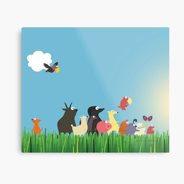 What's happening on the farm? Kids collection Metal Print