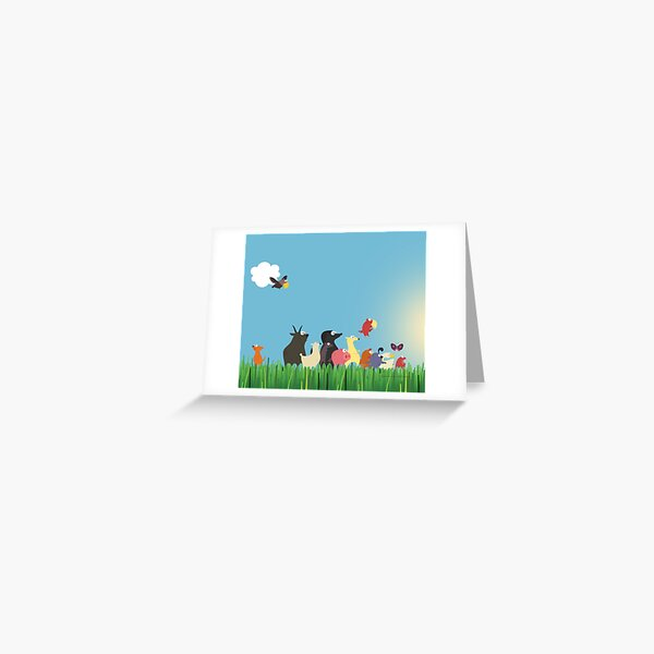 What's happening on the farm? Kids collection Greeting Card