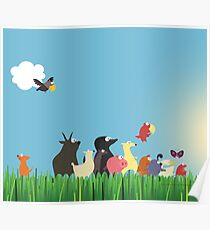 What's happening on the farm? Kids collection Poster