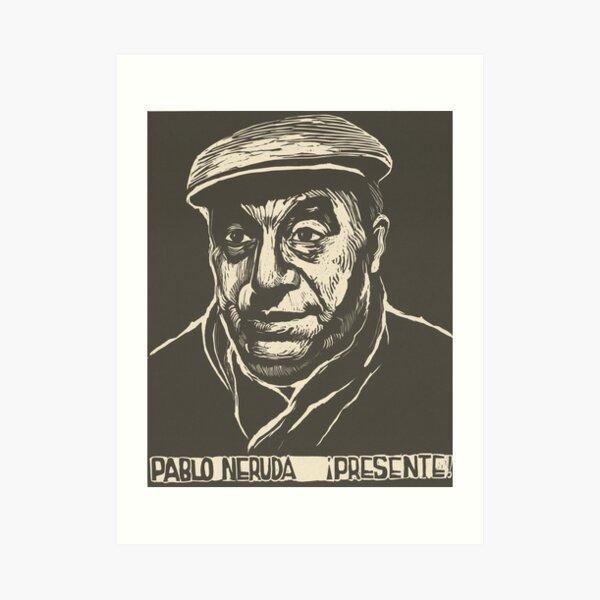 Pablo Neruda - Portrait Art Print