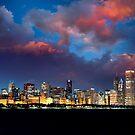 Chicago Skyline Sunset by Steve Ivanov