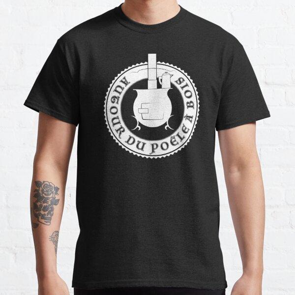 Logo Autour du poêle à bois (blanc) T-shirt classique