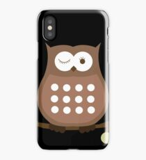 Brown Winking Owl iPhone Case iPhone Case/Skin