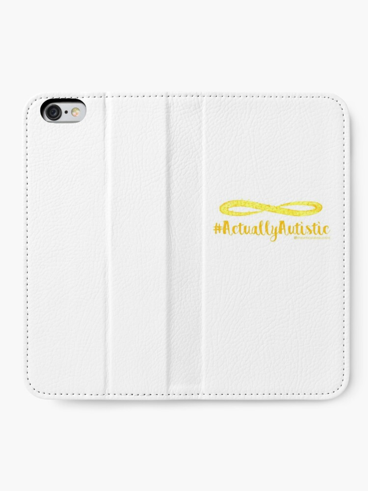 Alternate view of The Articulate Autistic Gold Infinity Logo iPhone Wallet