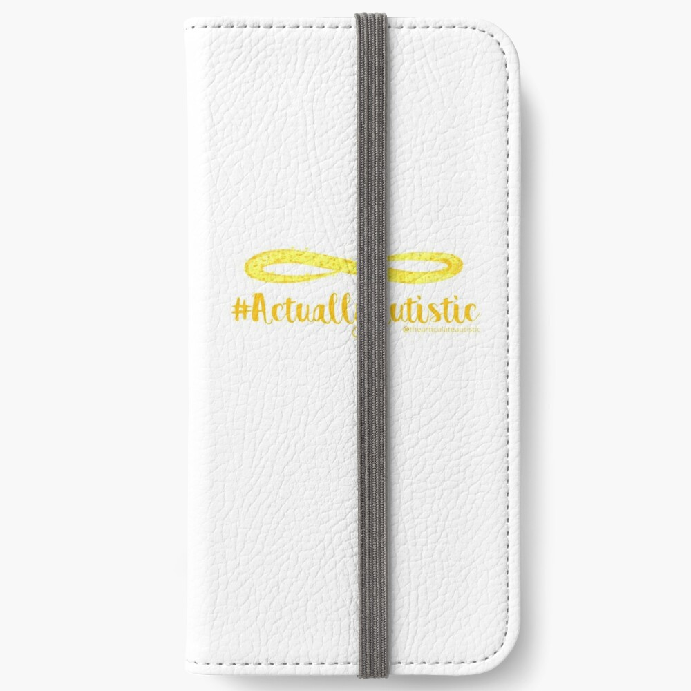 The Articulate Autistic Gold Infinity Logo iPhone Wallet