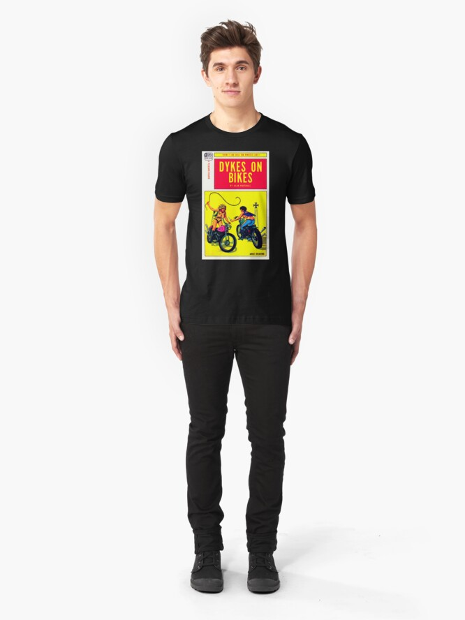"""Alternate view of """"Dykes On Bikes"""" Slim Fit T-Shirt"""