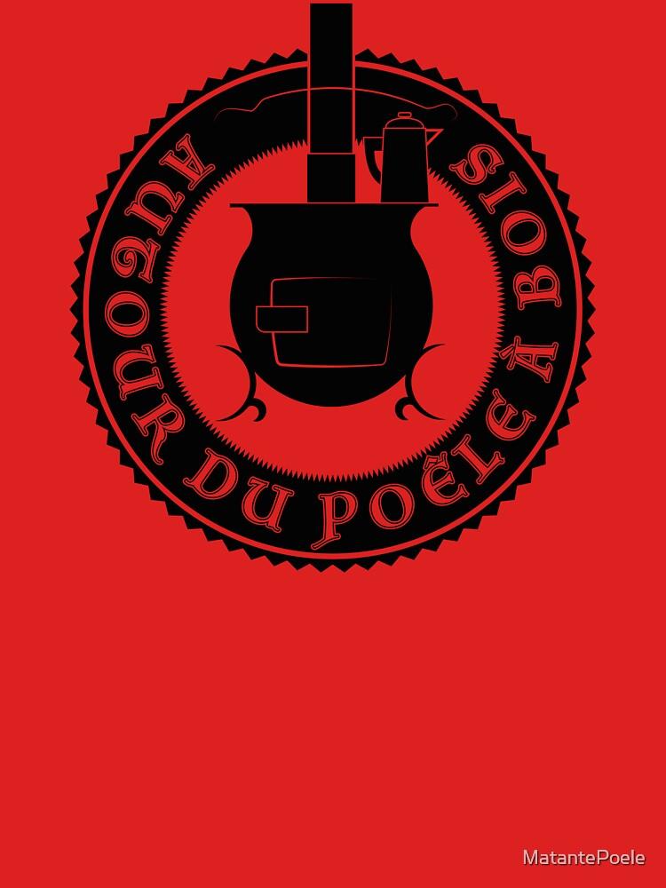 «Logo Autour du poêle à bois (noir)» par MatantePoele
