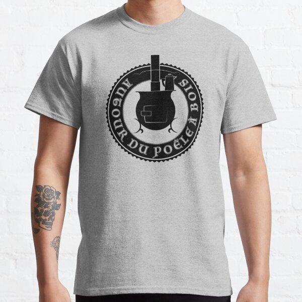 Logo Autour du poêle à bois (noir) T-shirt classique