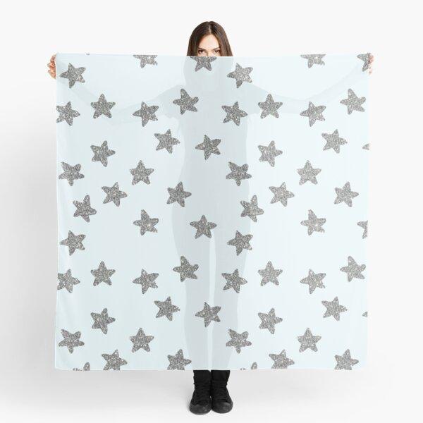silver glitter stars Scarf