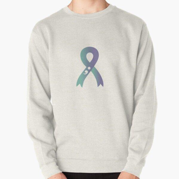 Suicide Prevention Awareness Ribbon (Transparent) Pullover Sweatshirt