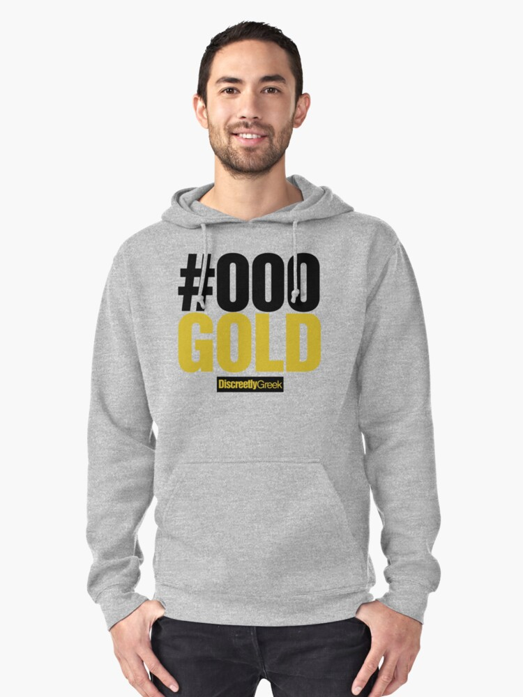 Discreetly Greek - #000 Black and Gold by integralapparel