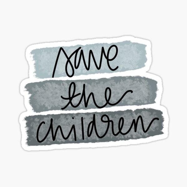 Save the children Sticker
