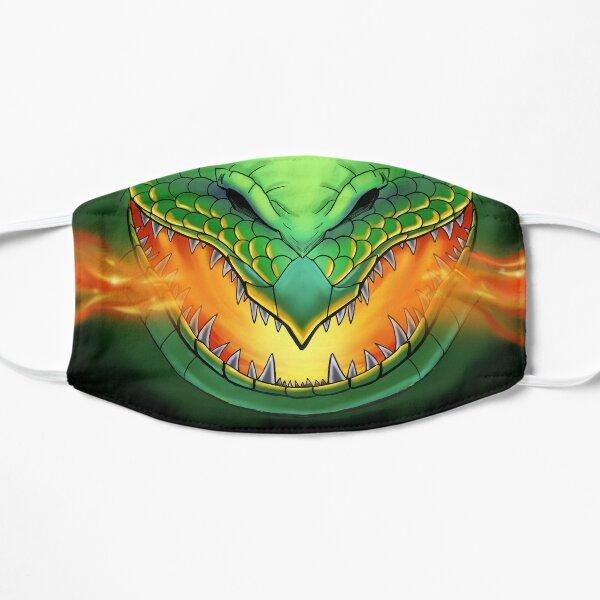 Green Dragonface Flat Mask