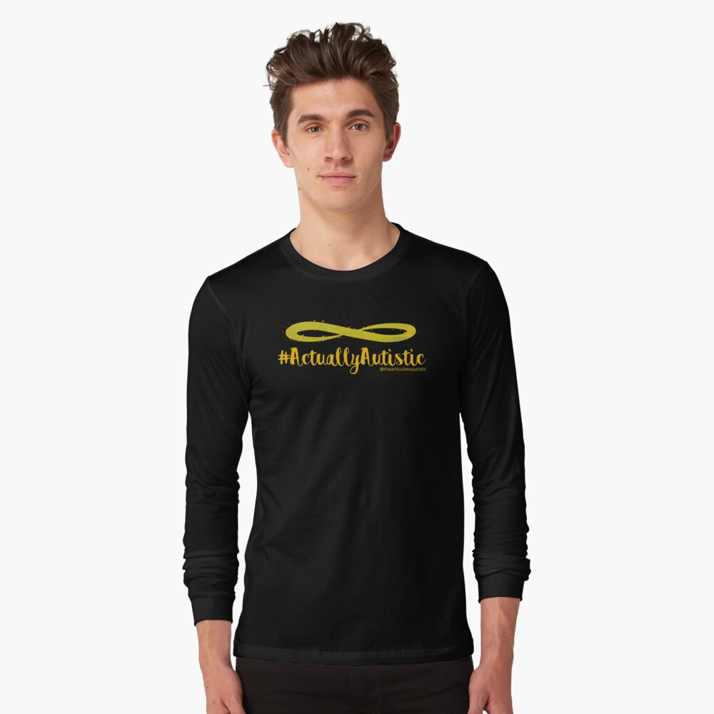 The Articulate Autistic Gold Infinity Logo Long Sleeve T-Shirt