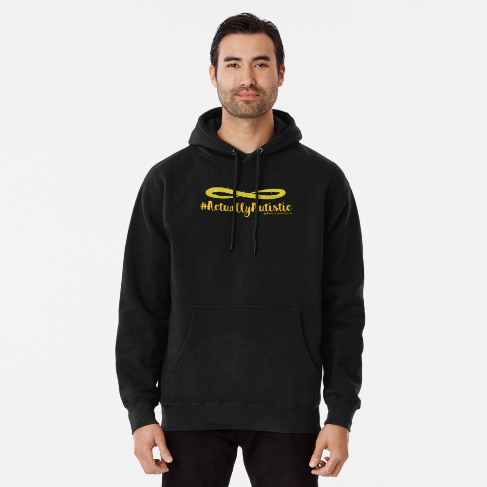 The Articulate Autistic Gold Infinity Logo Pullover Hoodie