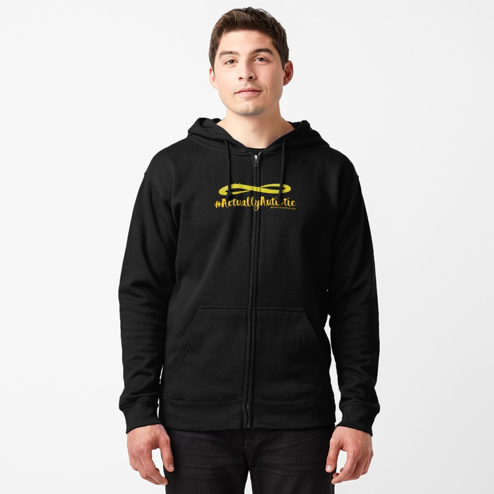 The Articulate Autistic Gold Infinity Logo Zipped Hoodie