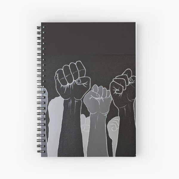 Fists up | Power to the people | Black lives matter Spiral Notebook