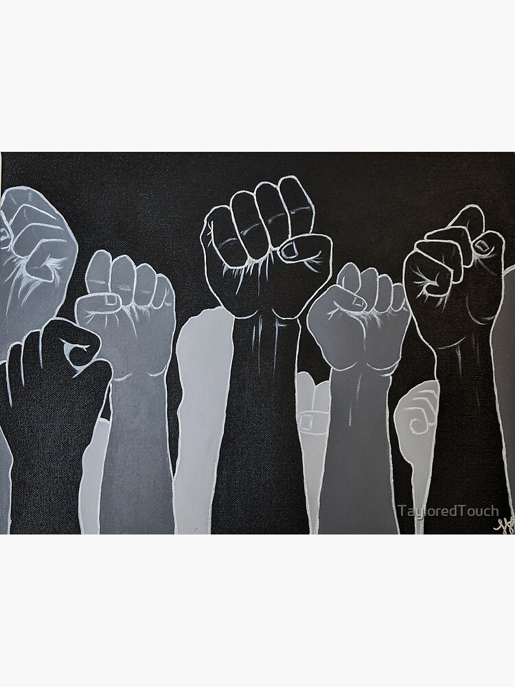 Fists up | Power to the people | Black lives matter by TayloredTouch